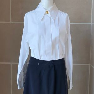 Chanel Cotton Pleated Shirt